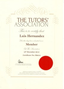 The Tutor Association CERTIFICATE